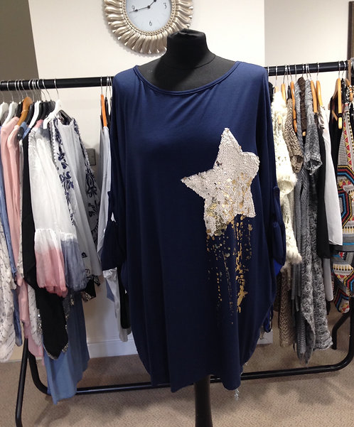 Long top with star