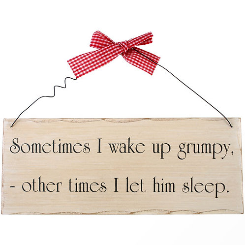 Sometimes I wake up plaque