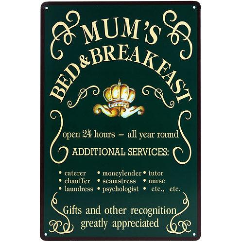 Mum's metal plaque