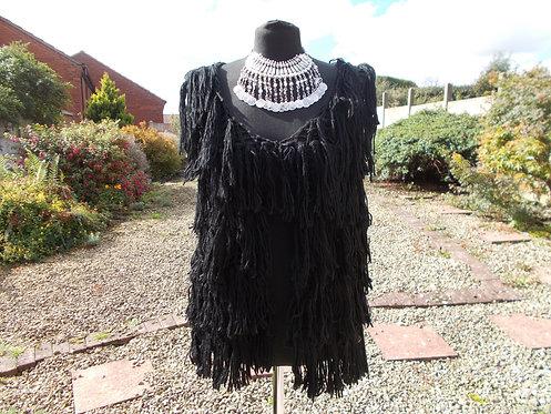 Woolen Tiered Fringed Waistcoat