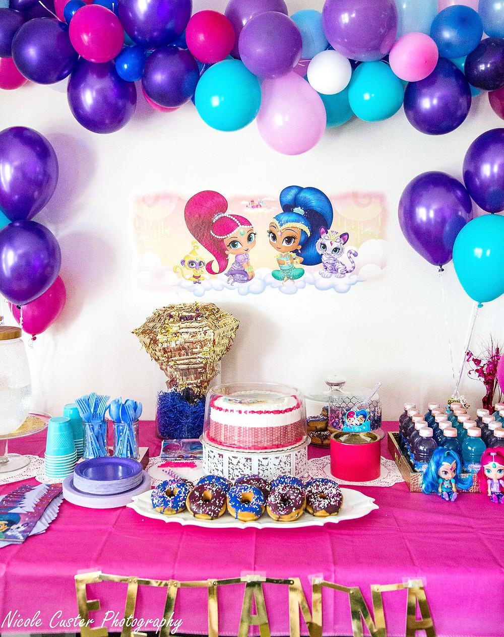#shimmerandshine #birthdayparty #pinkpurpleteal