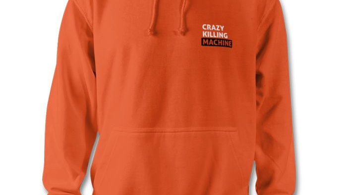 Unisex Hoody - Orange Small Logo