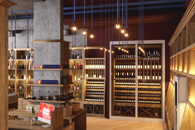 нас дизайн винного магазина фото точка, располагается