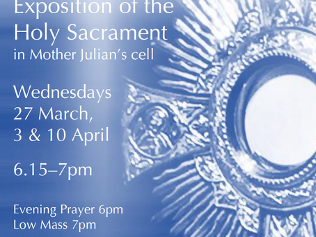Exposition during Lent