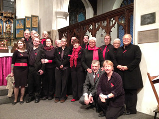 Sing with Pride Choir at World AIDS Day Service on 1st December.