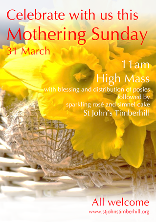 Celebrate with us this Mothering Sunday
