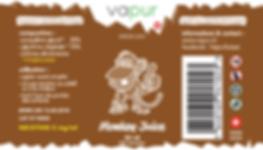 E-Liquide Vapur Suisse Monkey Juice, goût banane, buiscuit, crème, noix