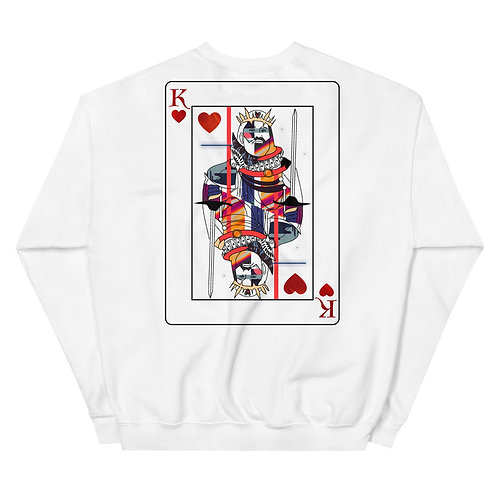 'King of Heart' White    Crewneck Sweater