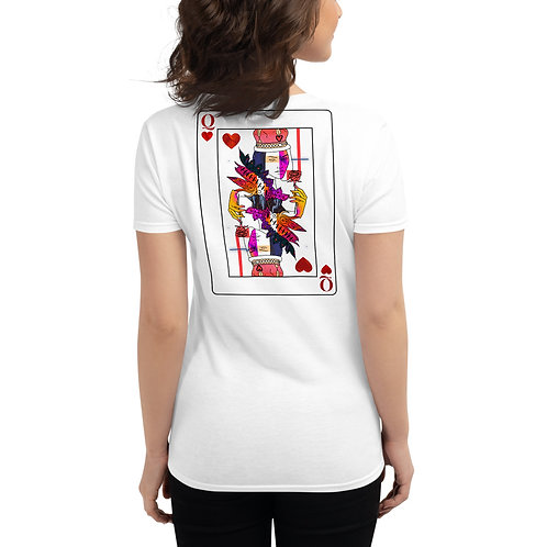 'Queen of Heart' Women's Fitted T-Shirt White