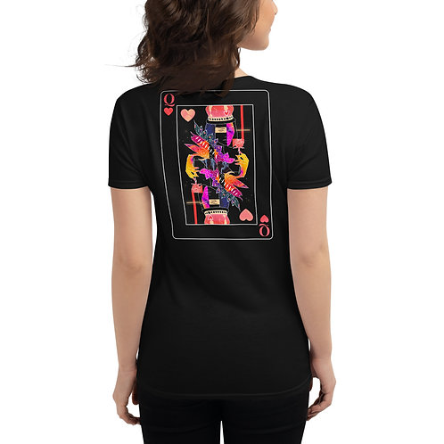 'Queen of Heart' Women's Fitted T-Shirt Black