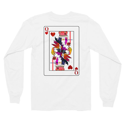 'Queen of Heart' White Long Sleeve