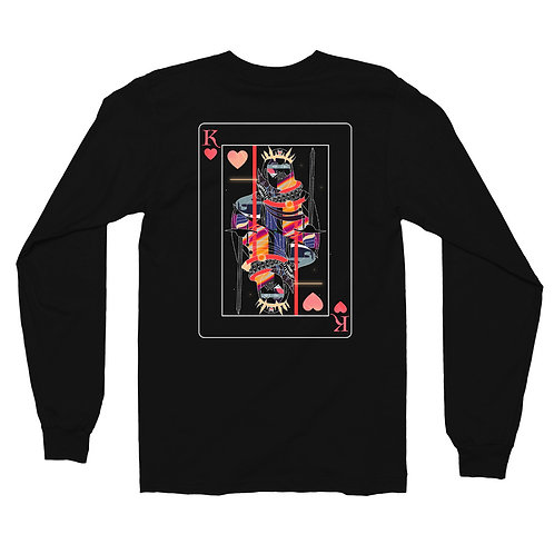 'King of Heart' Black Long Sleeve