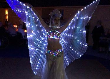 Aaliyah Zhoura - LED Bauchtanz Show