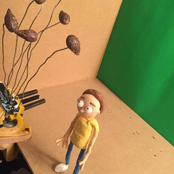 #behindthescenes fanart of rick and morty ! I'm animating my own take on the _mega seeds_ scene in e