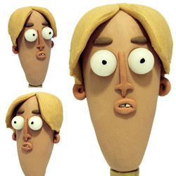 new Stopmotion clay head, hope you enjoy! Anything ideas what character to make next___Currently loo