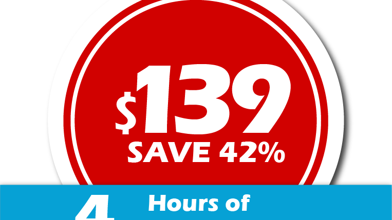 $139 FOR 4Hrs CLEANING SERVICE