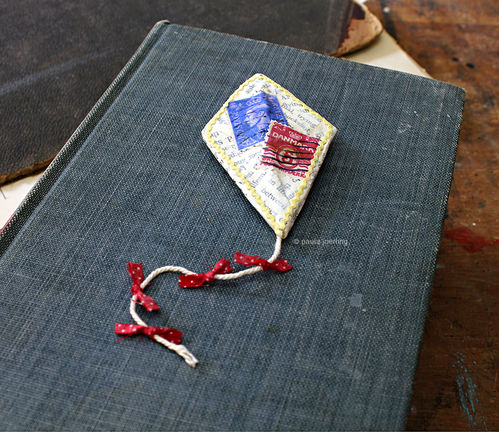 Stamp Kite Brooch