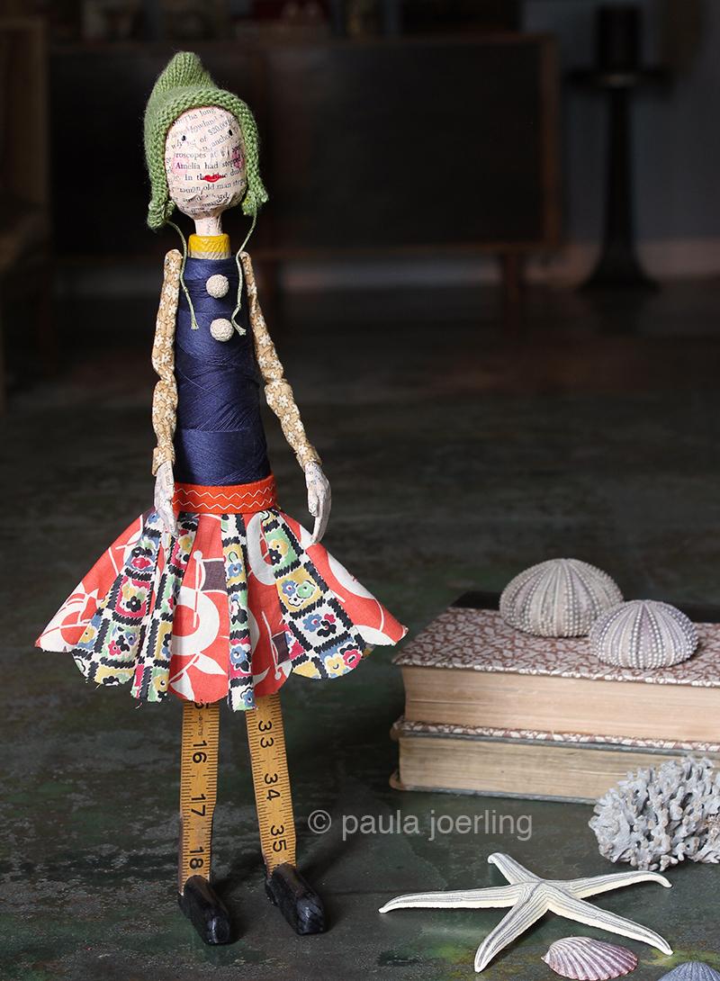 """""""Clara"""" Paper mache doll"""