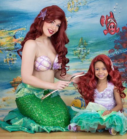 Little Mermaid brushing