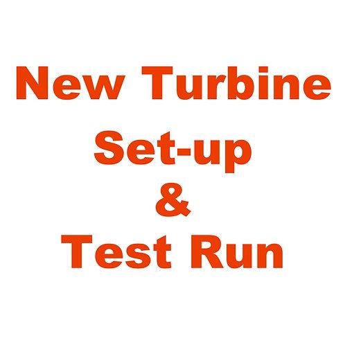 New Turbine Set-up/Test Run