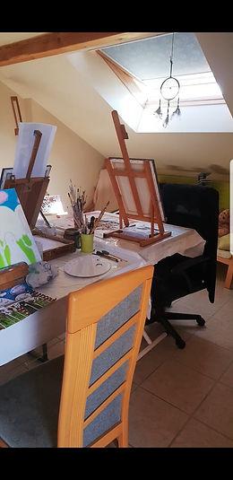 Atelier peinture, dessin, Anne Brunello, Valleiry, Haute-Savoie, Genevois
