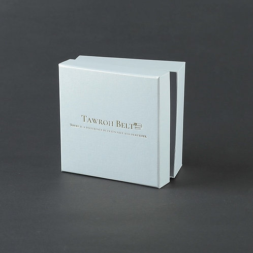 WHITE Gift Box, with Tawroh Belts Logo!