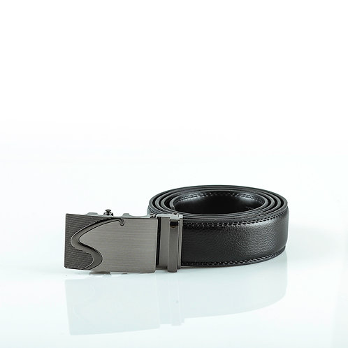 Modern Men's Belt, Gray color Automatic Buckle for Real Genuine Leather!