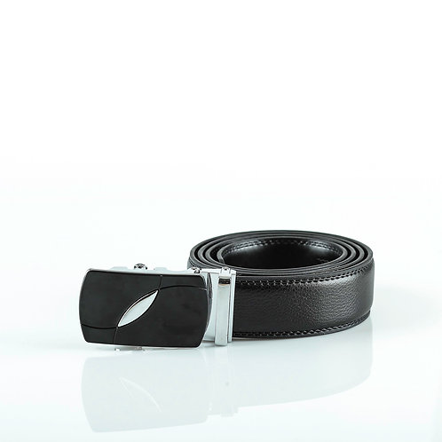 Classic Men's Belt, Silver color Automatic Buckle for Real Genuine Leathe