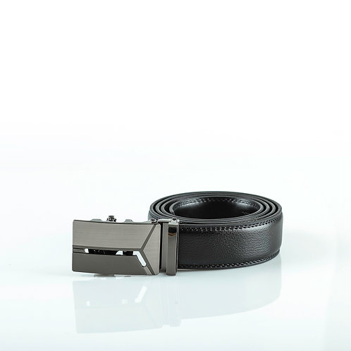 Designer Men's Belt, Gray color Automatic Buckle for Real Genuine Leather!