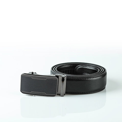 Modern Men's Belt, Black color Automatic Buckle, Real Genuine Leather