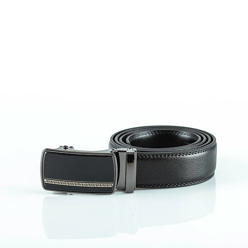 Classy Men's Belt, Black color Automatic Buckle, Real Genuine Leather