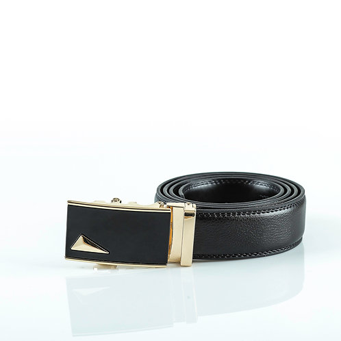 Formal Men's Belt Gold color Automatic Buckle. Real Genuine Leather!