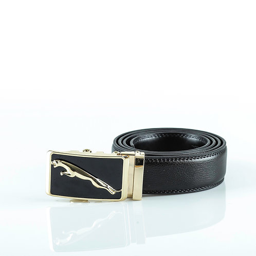 Classy Men's Belt Gold color Automatic Buckle. Real Genuine Leather!