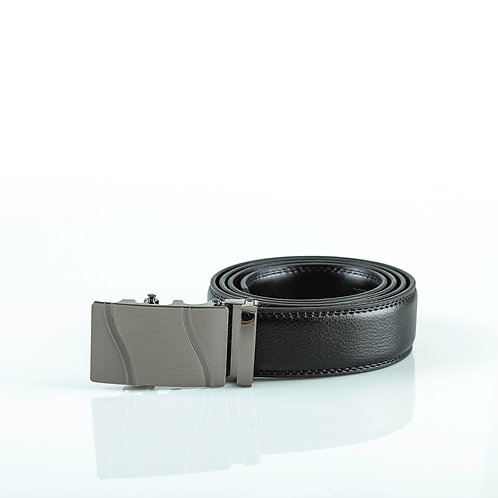 Classic Men's Belt, Gray color Automatic Buckle for Real Genuine Leather!