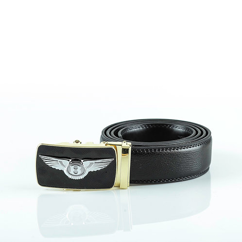 Luxury Men's Belt Gold color Automatic Buckle. Real Genuine Leather!