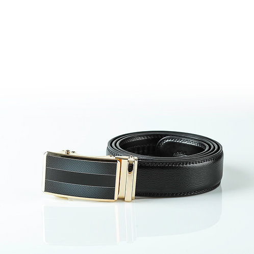 Luxury Men's Belt, Gold color Automatic Buckle. Real Genuine Leather!