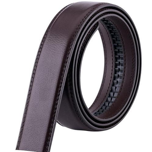 Artificial Leather Belt Strap 3,5 cm wide - DARK BROWN