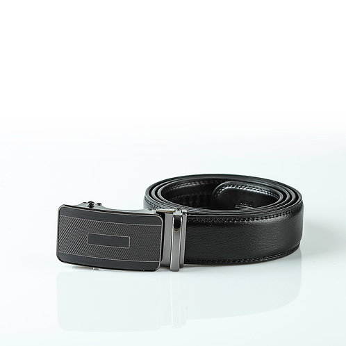 Modern Men's Belt, Black color Automatic Buckle, Real Genuine Leather