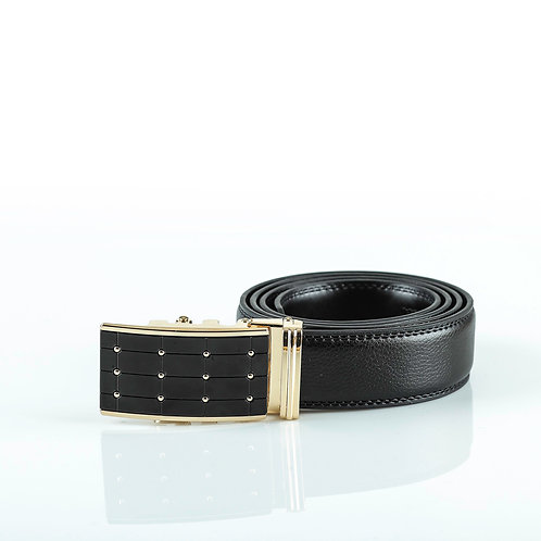 Fashion Men's Belt Gold color Automatic Buckle. Real Genuine Leather!