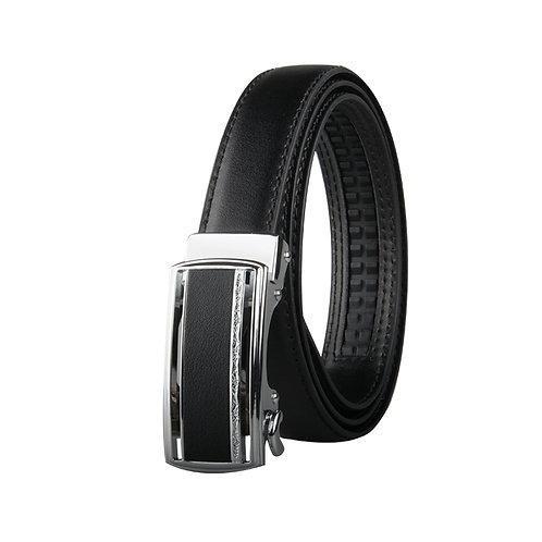 Classy Women's Belt, Silver color Automatic Buckle.
