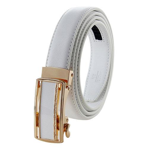 Classy Women's Belt, Gold color Automatic Buckle.