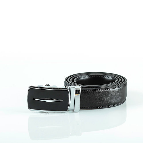 Formal Men's Belt, Silver color Automatic Buckle for Real Genuine Leathe