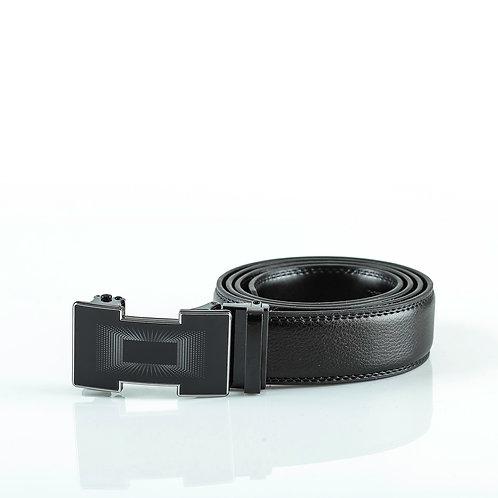 Elegant Men's Belt, Black color Automatic Buckle, Real Genuine Leather