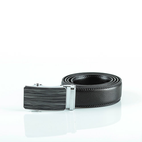 Fashion Men's Belt, Silver color Automatic Buckle for Real Genuine Leather