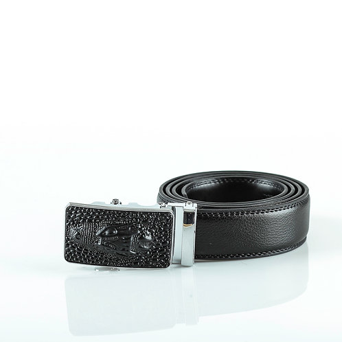 Designer Men's Belt, Silver color Automatic Buckle for Real Genuine Leather