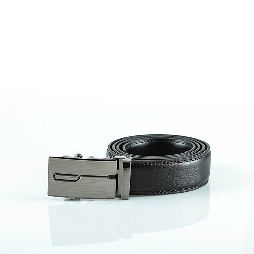 Casual Men's Belt, Gray color Automatic Buckle for Real Genuine Leather!