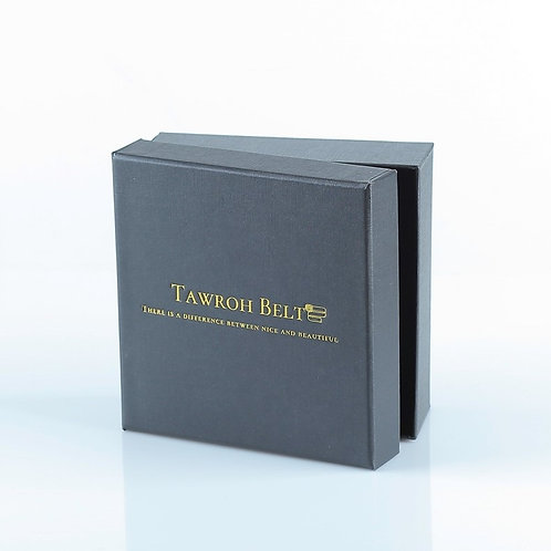 BLACK Gift Box, with Tawroh Belts Logo!