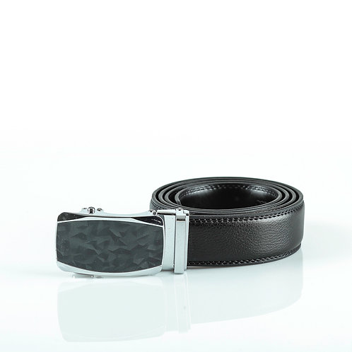Classy Men's Belt, Silver color Automatic Buckle for Real Genuine Leather