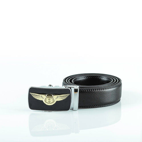 Luxury Men's Belt, Silver color Automatic Buckle for Real Genuine Leather