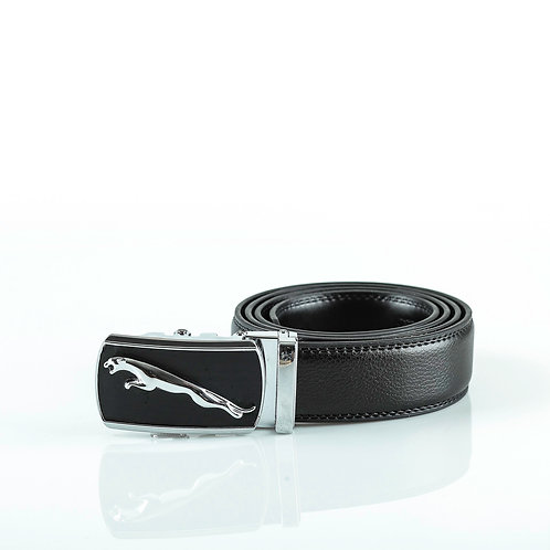 Modern Men's Belt, Silver color Automatic Buckle for Real Genuine Leathe